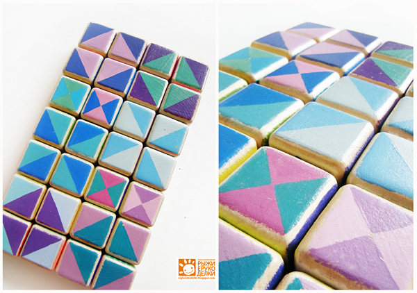 Кубики с цифрами своими руками
