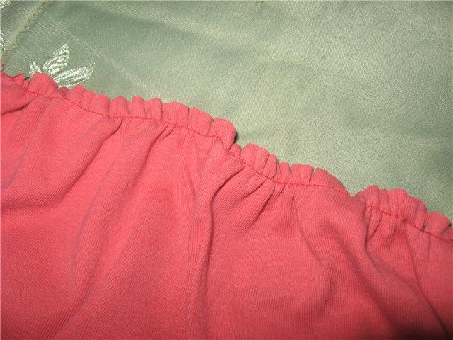 Присобрать юбку